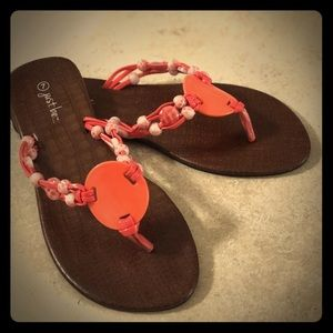 Coral colored sandals